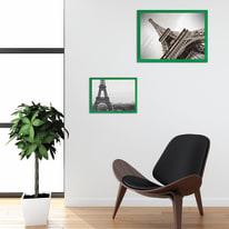 Cornice INSPIRE verde per foto da 30X40 cm
