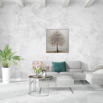 Quadro dipinto a mano Albero 100x100 cm