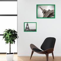 Cornice INSPIRE Easy verde per foto da 50X70 cm