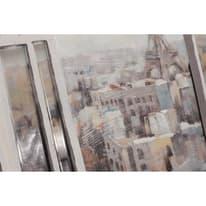 Quadro dipinto a mano Finestra Parigi 120x90 cm