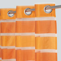 Tenda Yanae arancione occhielli 140x280 cm