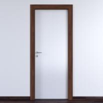Porta a battente One White bianco/noce L 90 x H 210 cm reversibile
