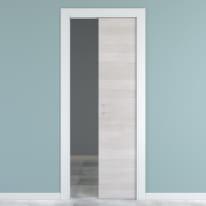 Porta scorrevole a scomparsa One ecrù/bianco L 60 x H 210 cm reversibile