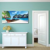 Quadro su tela Paradise beach 50x100 cm
