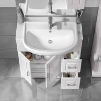 Mobile bagno Paola bianco L 81 cm