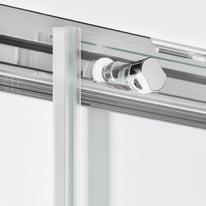 Box doccia scorrevole 75 x , H 200 cm in vetro, spessore 6 mm trasparente nero