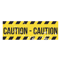 Quadro su tela Caution 95x33 cm