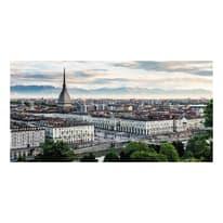 Quadro su tela Torino veduta 90x190 cm