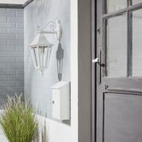 Applique Monza in alluminio, bianco, E27 MAX100W IP44 INSPIRE