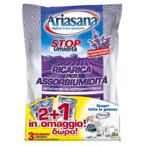 Kit assorbiumidità e sali HENKEL Ariasana lavanda 3x450g