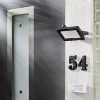 Proiettore LED integrato Yonkers in alluminio, antracite, 20W IP65 INSPIRE