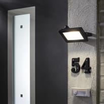 Proiettore LED integrato in alluminio, antracite, 20W IP65 INSPIRE