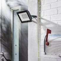Proiettore LED integrato in alluminio, antracite, 50W IP65 INSPIRE
