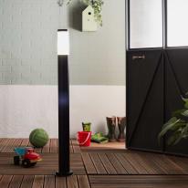Palo della luce H100cm in acciaio inossidabile, nero, E27 IP44 INSPIRE