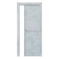 Porta scorrevole a scomparsa Cemento grigio L 90 x H 210 cm reversibile