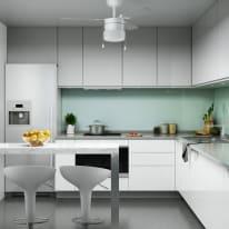 Ventilatore da soffitto Ana grigio argento/bianco, in alluminio diam. 91cm, INSPIRE