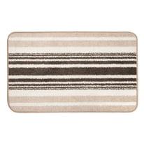 Tappeto bagno in cotone beige 80 x 50 cm