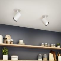 Faretto orientabile da incasso orientabile tondo Cepini in alluminio, bianco, diam. 6.5 cm LED integrato 10W 1200LM IP20 INSPIRE