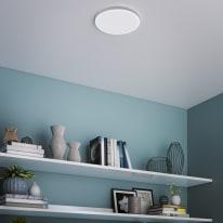 Faretto fisso da incasso tondo in metallo, bianco, diam. 22.78 cm LED integrato IP44 INSPIRE