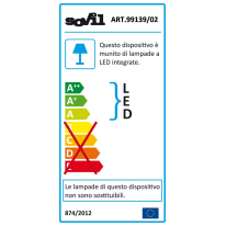 Applique Dexter LED integrato in alluminio, bianco, 10W 500LM IP54