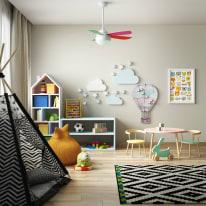 Ventilatore da soffitto Lombarde multicolore, in alluminio diam. 106cm, con telecomando, INSPIRE