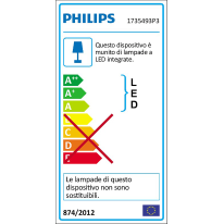 Plafoniera Stratosphere LED integrato in alluminio, grigio, 4.5W 500LM IP44 PHILIPS