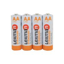Pila alcalina LR6 AA LEXMAN 844999 4 batterie