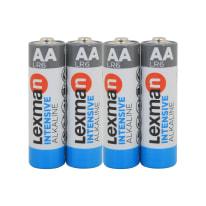 Pila alcalina LR6 AA LEXMAN 844996 4 batterie
