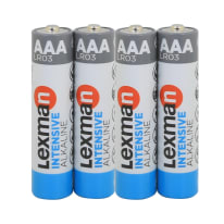 Pila alcalina LR03 AAA LEXMAN 844988 4 batterie