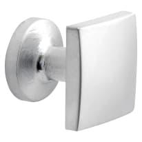 Pomolo per mobile in zama grigio / argento cromato