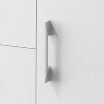 Set cassetti L 90 x H 87 x Sp 41 cm bianco/rovere