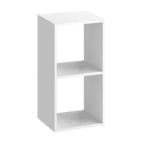 Scocca di armadio ripostiglio 2 cubi Kub SPACEO L 36 x H 70.4 x Sp 31.7 cm bianco