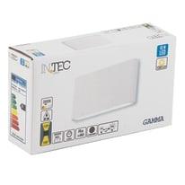 Applique led integrato gamma LED integrato in alluminio, bianco, 10W 1080LM IP54