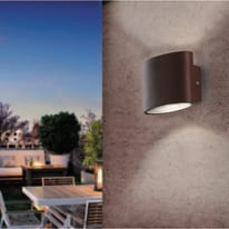 Applique Boxter LED integrato in alluminio, bronzo, 4W 700LM IP44