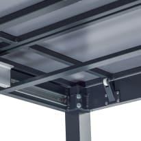 Tavolo da giardino allungabile rettangolare NATERIAL in alluminio L 256 x P 100 cm