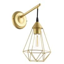 Applique Byron oro, in metallo, 37.5x18 cm, E27 MAX60W IP20 INSPIRE