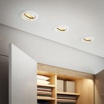 Faretto fisso da incasso orientabile tondo Clane in alluminio, bianco, diam. 8.2 cm GU10 40W IP23 INSPIRE