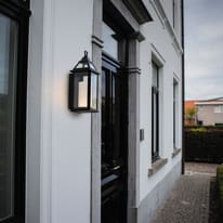 Applique Hom LED integrato in alluminio, nero, 16W 400LM IP44 LUTEC