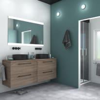 Specchio Angolare Per Bagno.Specchio Con Illuminazione Integrata Bagno Rettangolare Randen L 45 X H 70 Cm Sensea
