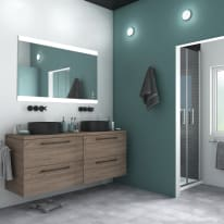 Specchio con illuminazione integrata bagno rettangolare Randen L 90 x H 70 cm SENSEA