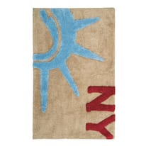 Tappeto bagno rettangolare in 100% cotone visone 90 x 55 cm