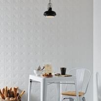 Piastrella Interior decoro L 25 x H 25 cm bianco