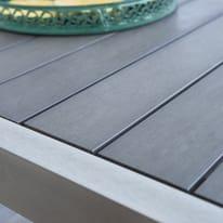 Tavolo da giardino allungabile rettangolare NATERIAL in alluminio L 180 x P 100 cm