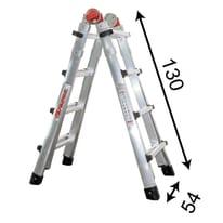 Scala telescopica FARAONE in alluminio per lavori fino a 2.9 m