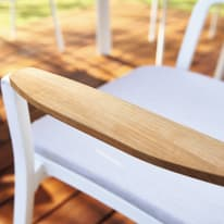 Sedia Portals in acciaio colore bianco sabbia