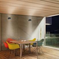 Applique Cube LED integrato in alluminio, nero, 6W 440LM IP54