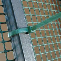 Fascetta a collare verde in pvc 10 cm x 50 pezzi