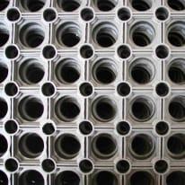 Zerbino in caucciù nero 50x100 cm