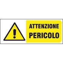 Cartello segnaletico Pericolo pvc 31 x 14 cm