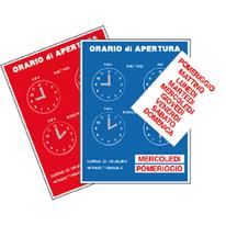 Cartello segnaletico Orario pvc 16 x 21 cm